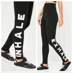 Missguided Inhale Exhale Black Leggings 2